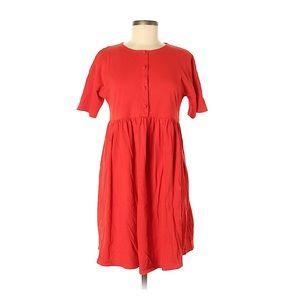 ASOS | Red Button Front Shirt Dress